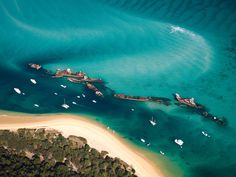 Photo about Aerial view of the Tangalooma Wrecks at Moreton Island, Queensland, Australia. Image of shore, island, beautiful - 10575074 Brisbane, Melbourne, Sydney, Perth, Queensland Australia, Gold Coast Australia, Australia Travel, Western Australia, Visit Australia