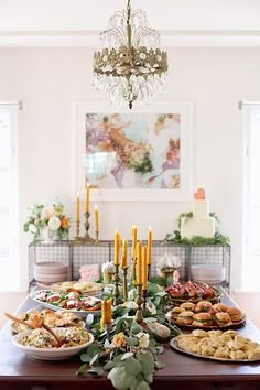 INDULGE IN FOOD PORN: The food and serving table can be a great place to bring some more adult vibes into the decor while still integrating bright and beautiful colors.