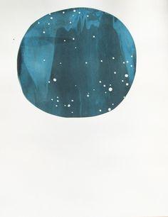 constellation screenprint