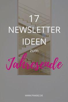 Newsletter Ideen zum Jahresende | Content Ideen für Selbstständige für Weihnachten und Silvester + 60 Content-Ideen für deinen Newsletter als gratis Download