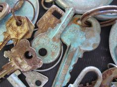 Patina Everything! Using only vinegar and salt. Anything from keys to hinges, to locks, any metal you want aged!