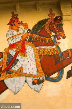 Indian wall mural art