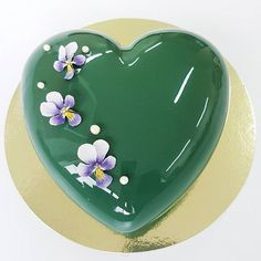 Heart Mirror Glaze Mousse cake - For all your cake decorating supplies, please visit craftcompany.co.uk