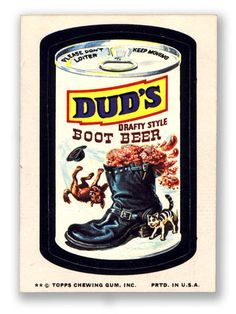 Topps Wacky Packages  12th Series 1975 DUD'S ROOT BEER