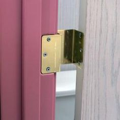 Offset Door Hinge adds an additional 2 inches to any doorway. Offset Door Hinges are also known as Swing Clear Hinges as they will actually swing your door clear of the door frame making it easier to get a wheelchair or walker through the doorway. Ada Bathroom, Handicap Bathroom, Narrow Bathroom, Bathroom Doors, Disabled Bathroom, Bathroom Ideas, Handicap Accessible Home, Ada Accessible, Interiors