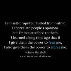 I am self-propelled...