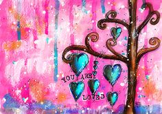 Creative Creations by Andrea Gomoll | Mixed Media Wallpaper: You Are Loved | http://andrea-gomoll.de