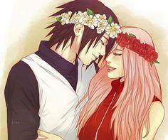Sakura and Sasuke Uchiha Wallpaper ♥♥♥ Queen of the Fist ♥ #Beautiful #ByakugouJutsu #Medic #Strong #Mother #Father #Family #Couple #SasuSaku