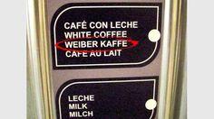 """Ein Klassiker. Das deutsche """"ß"""" ist ein schwieriger Buchstabe. Gefunden auf Ibiza. White Coffee, Milk, Ibiza, Stupid, Food Menu, German, Cooking, Ibiza Town"""