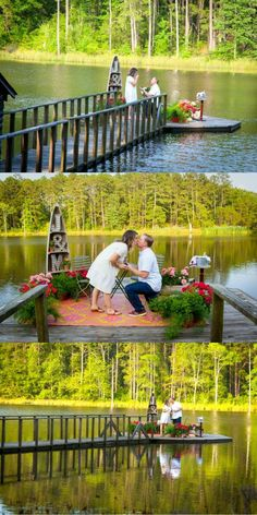 He asked her to marry him on the dock at his family's lake house, and it's pretty much the dream!