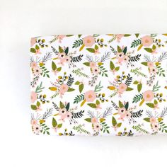 Changing Pad Cover Blush Sprigs and Blooms. Change by Iviebaby