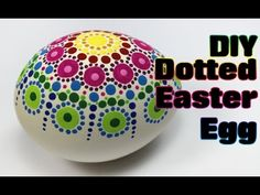 Dotted Rainbow Easter Egg Tutorial #1   Easter Eggs DIY & Crafts  http://www.lucysstash.com/2015/04/easter-crafting-how-to-create-dotted-easter-eggs.html