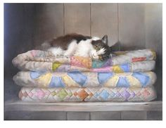 Snooze Interrupted by Berry Fritz Oil ~ 16 x 22