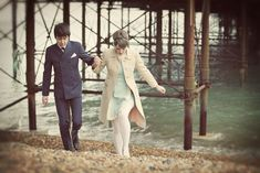 Brighton Rock ~ A Chic Engagement Shoot. 1960s Wedding, Mod Wedding, Vintage Weddings, Wedding Styles, Wedding Photos, Wedding Ideas, Brighton Rock, 1960s Inspired, Wedding Places
