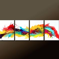4pc Abstract Canvas Art Painting MADE TO ORDER Contemporary