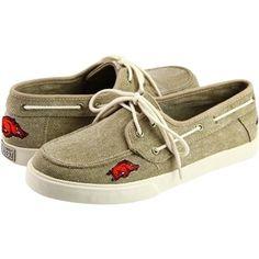 Arkansas Razorbacks Campus Cruzerz Captain Shoes - Khaki