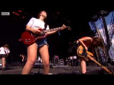 Haim - Oh Well live at T in the Park 2014 - YouTube  I am completely OBSESSED with these sisters from my hometown of LA...THEY ROCK...especially Danielle who oozes cool as she shreds on EVERYTHING, drums too!!! TOTAL GIRL CRUSH