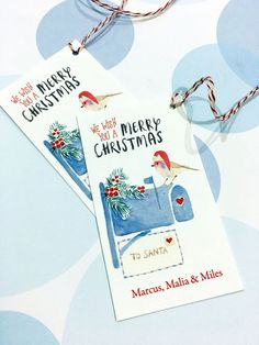 Personalized Christmas Gift Tags Holiday Tags Set by PikakePress