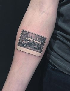 Into the Wild Polaroid Photo On Forearm | Best tattoo ideas & designs
