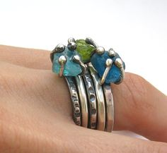 lovely rings by Scrollwork Designs on etsy My type of ring!