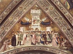 Photo of Basilica di San Francesco: Allegory of Chastity Fresco by Giotto in Lower Church Francis Of Assisi, St Francis, Tempera, Catholic Orders, Umbria Italy, Found Art, Roman Catholic, Figurative Art, Art Boards