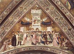 'Franciscan Allegorien: Allegorie der Keuschheit', freskos von Giotto Di Bondone (1266-1337, Italy)