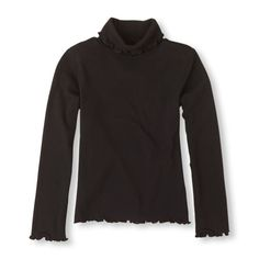 dressy turtleneck black, girls' sizes $10