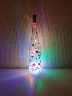 Meditation, Light Chain, Bottle Lights, Etsy Shop, Lava Lamp, Zen, Table Lamp, Hand Painted, Decor