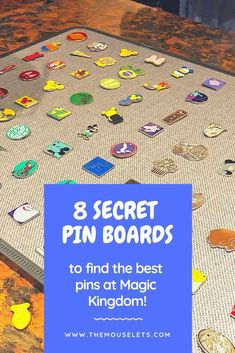 8 secret pin boards in Magic Kingdom #pintrading