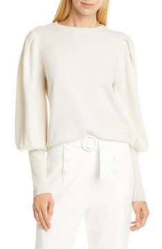 Shop Jonathan Simkhai Puff Sleeve Cashmere Sweater In White from 250+ stores, starting at $237. Similar ones also available. On SALE now! Elegantly ballooned sleeves with extended fitted cuffs put a romantic spin on a luxe pullover of delectably soft and cozy cashmere. Style Name: Jonathan Simkhai Puff Sleeve Cashmere Sweater. Style Number: 5867393. Available in stores.