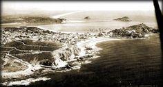 Mazatlan Sinaloa, 1935, Vista aerea del cerro del vigía y el cerro de la neveria