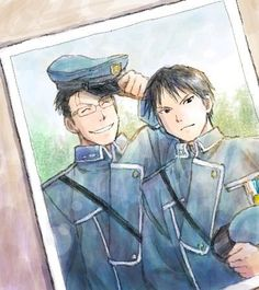 Fullmetal Alchemist - Roy Mustang and Maes Hughes