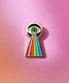 Hey, I found this really awesome Etsy listing at https://www.etsy.com/listing/384449196/electric-eye-enamel-pin-rainbow-lapel