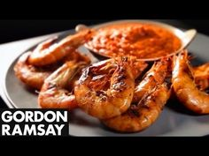Sweet Pepper Sauce with Grilled Prawns - Gordon Ramsay - YouTube
