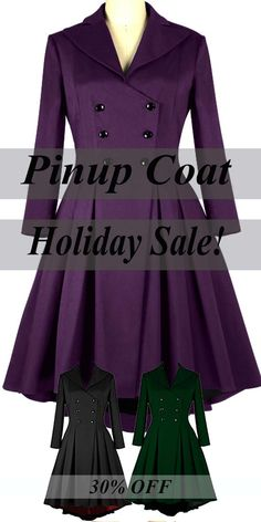 Great selection of Retro Pinup coats on sale this week Rockabilly Outfits, Rockabilly Fashion, Retro Outfits, Retro Fashion, Rockabilly Clothing, Rockabilly Style, Vintage Fashion, Pin Up Outfits, Pin Up Dresses
