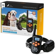 Sit Boo-Boo Pro Trainer Rechargeable Waterproof Dog Training Collar with Remote and E-Book for Small to Large Dogs, 330-Yard ** Read more reviews of the product by visiting the link on the image.