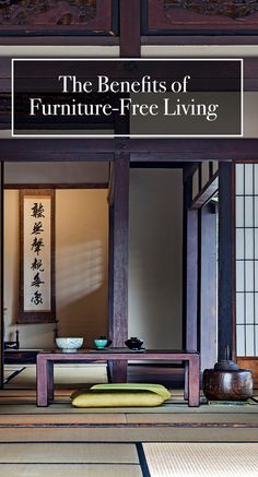 Discover the surprising health benefits of furniture-free living. furniture health tiny house