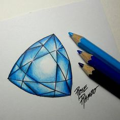 Image result for how to color gems with colored pencils