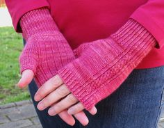 Fingerless Gloves Knitting PATTERN PDF - Moirai Fingerless Mitts