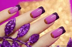 Bright french manicure, Evening dress nails, Evening nails, French manicure ideas 2016, Half-moon nails ideas, Nails ideas 2016, Spectacular nails, Stylish nails 2016