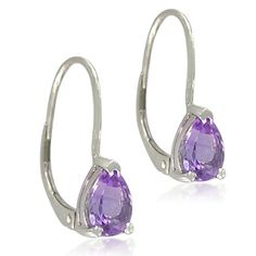 Sterling Silver Pear-Shaped 5x8mm Amethyst Lever Back Earrings Amazon Curated Collection. $23.00. Made in China