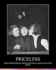 Fact: Paul McCartney was photobombing people before it was cool. In a classic example of vintage photobombing before the term even existed, Sir Paul popped up in a picture of his Beatles bandmate, George Harrison, and some fans. George Harrison, John Lennon, Redd Foxx, Hugh Laurie, Bill Cosby, Sean Connery, Marlon Brando, Stevie Wonder, Ringo Starr