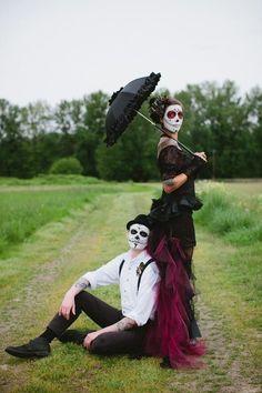 Catrina love sugar skull couple<3