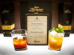 Zacapa 23 cocktails: The Cask Chronicles & The Renowned Rum Cup