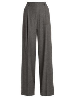 REDValentino High-rise wide-leg wool-blend trousers