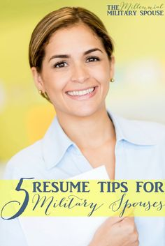Useful resume tips for military spouses!