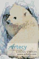 Mini Polar Bear Cub Cross Stitch Pattern http://www.artecyshop.com/index.php?main_page=product_info&cPath=11_12&products_id=598