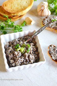 Mushroom Pate - GrabandgoRecipes.com Russian Home Cooking Recipes