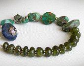Aquamarine Bracelet March Birthstone by jQjewelrydesigns on Etsy