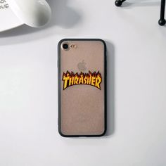 Logo for iPhone 6 Case, Luxury Phone Cover for iphone 7 7plus 5 5s se 6 6s plus Coque Fashion USA Brand Thrasher Cool Skateboard